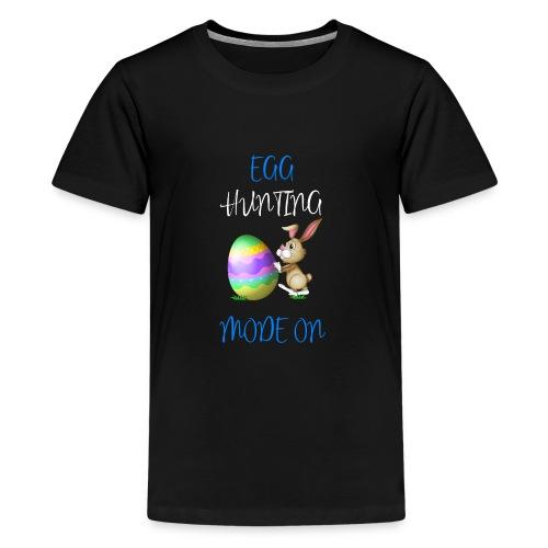 Kids Easter Egg hunting mode on shirt - Kids' Premium T-Shirt