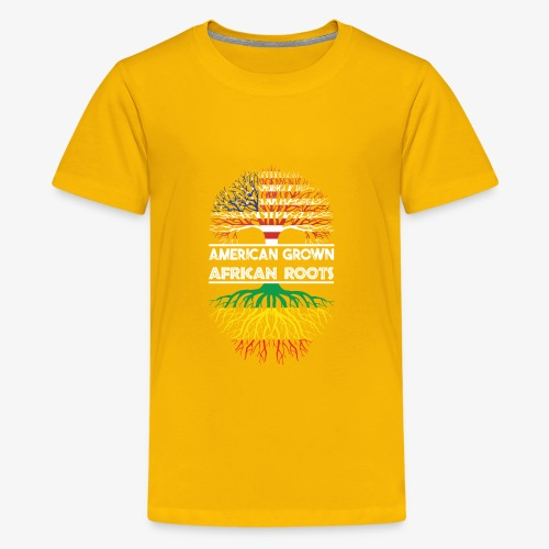 American Grown With African Roots T-Shirt - Kids' Premium T-Shirt