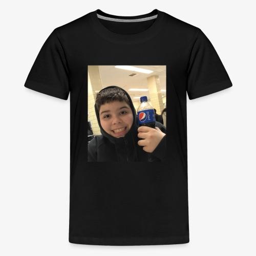 Sotiri with Pepsi Bottle smiling - Kids' Premium T-Shirt