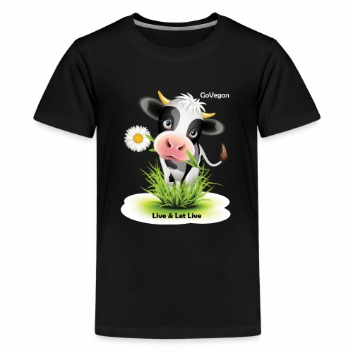 Live & Let Live Cow - Kids' Premium T-Shirt
