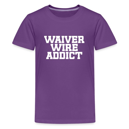 Waiver Wire Addict (Turquoise & Metallic Gold) - Kids' Premium T-Shirt