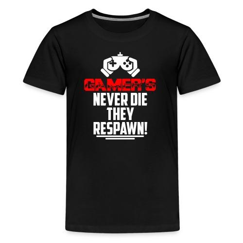 Gamer's Never Die Retro - Kids' Premium T-Shirt