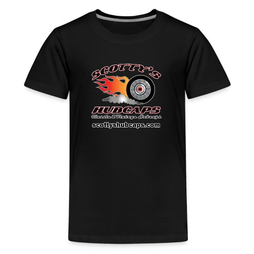 ScottysHubcaps Logo wWebsite WhiteOutline - Kids' Premium T-Shirt