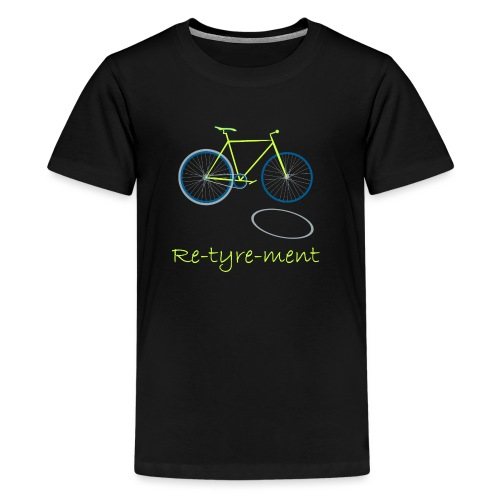 Re-tyre-ment (Yellow Blue) - Kids' Premium T-Shirt