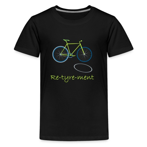 Re-tyre-ment (Yellow Blue) - Kids' Premium T-Shirt