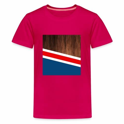 Wooden stripes - Kids' Premium T-Shirt