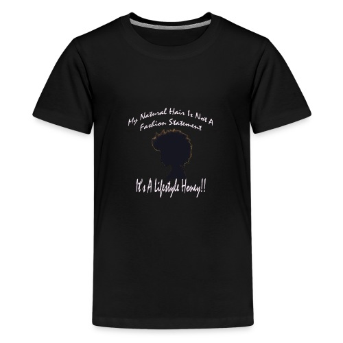 Natural Life Style - Black & Light Pink - Kids' Premium T-Shirt