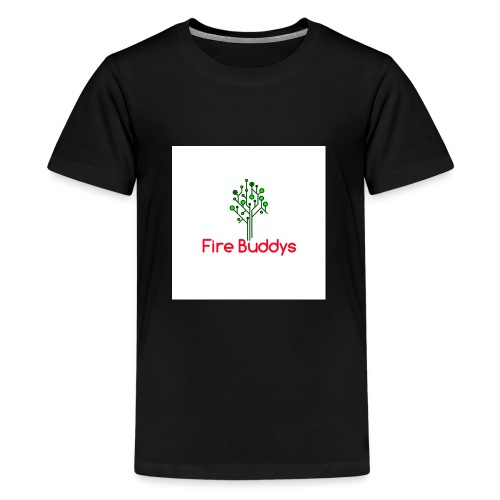 Fire Buddys Website Logo White Tee-shirt eco - Kids' Premium T-Shirt