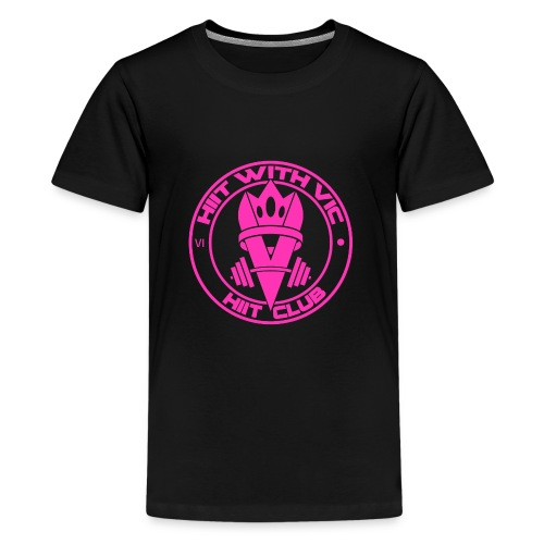 QueenV HIIT Club Pink - Kids' Premium T-Shirt