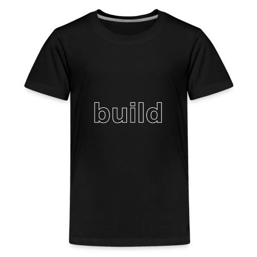 build logo (white for use on Dark Shirts) - Kids' Premium T-Shirt