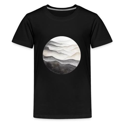 Watercolor Mountains Illustration - Kids' Premium T-Shirt