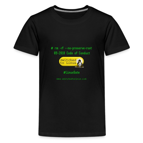 rm Linux Code of Conduct - Kids' Premium T-Shirt