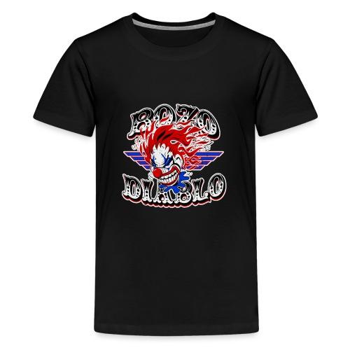 Bozo Diablo Crazy Clown Illustration - Kids' Premium T-Shirt