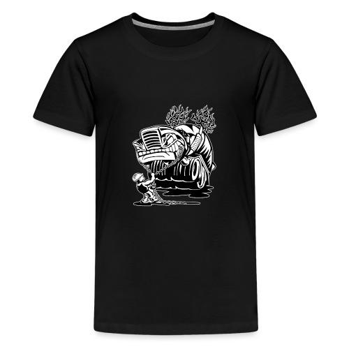 Cement Truck Mixer Cartoon - Kids' Premium T-Shirt