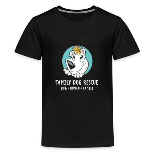 fdr logo (white tagline) - Kids' Premium T-Shirt