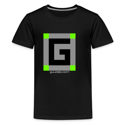 Guude Logo with White Text - Kids' Premium T-Shirt