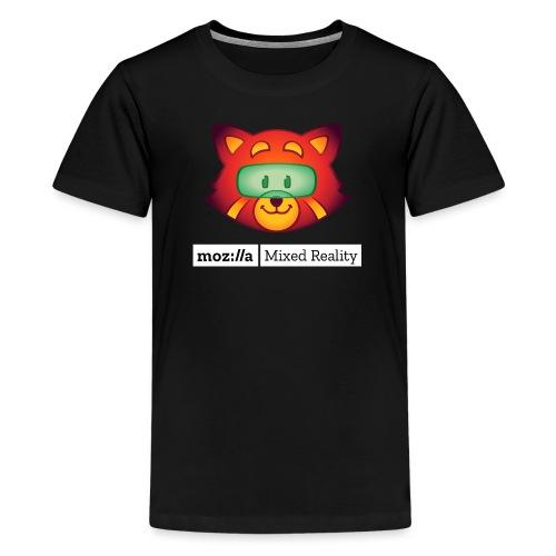 Foxr Head (white MR logo) - Kids' Premium T-Shirt
