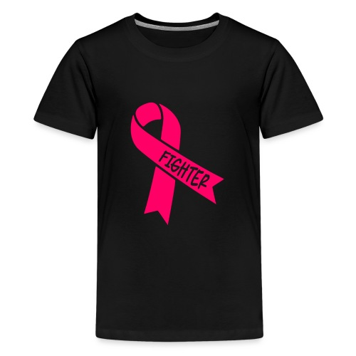 pink ribbon fighter - Kids' Premium T-Shirt