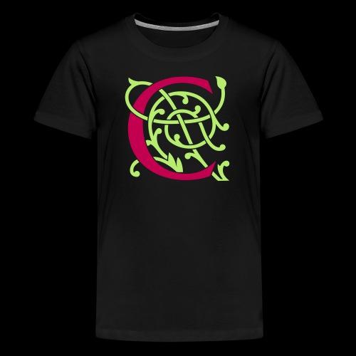 DIY FlexColor™ Monogram C • A4-2 – 2 Colors - Kids' Premium T-Shirt