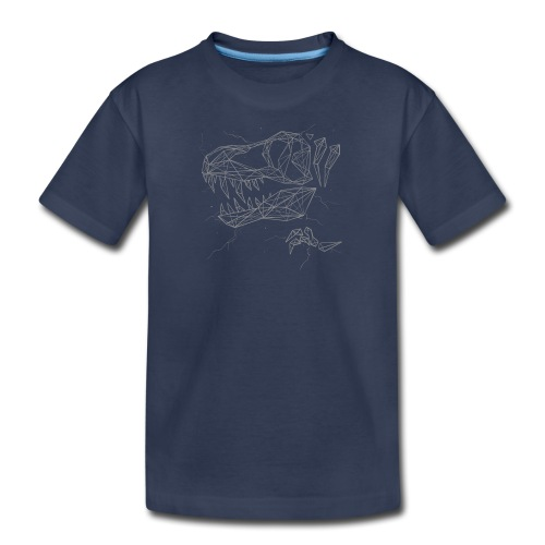 Jurassic Polygons by Beanie Draws - Kids' Premium T-Shirt