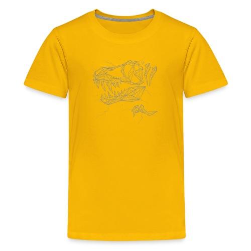 Jurassic Polygons by Beanie Draws - Kids' Premium T-Shirt