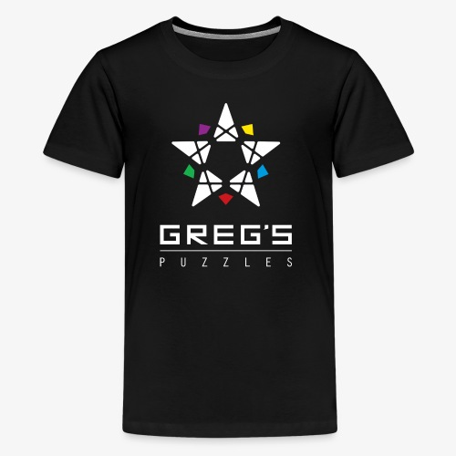 Greg's Puzzles Logo - Kids' Premium T-Shirt