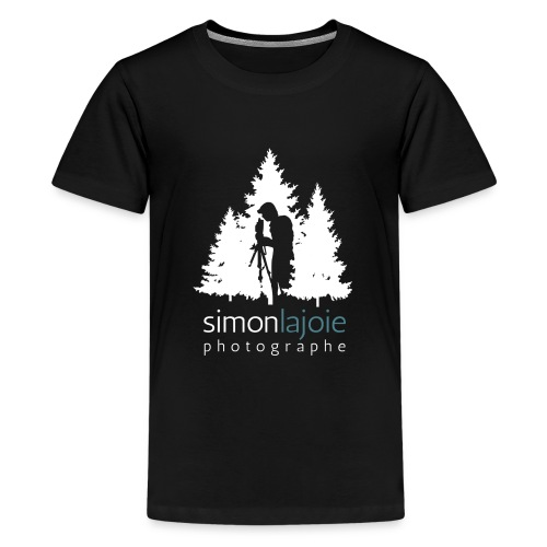 Logo Simon Lajoie Photographer White - Kids' Premium T-Shirt