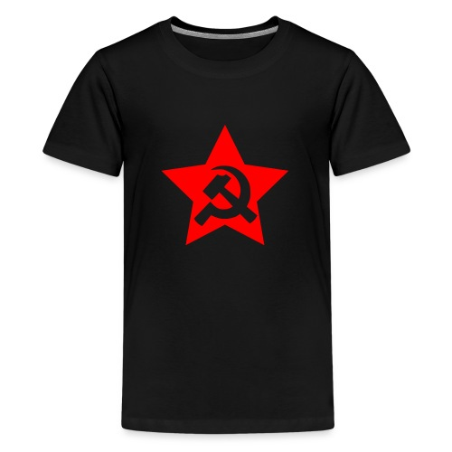 red and white star hammer and sickle - Kids' Premium T-Shirt
