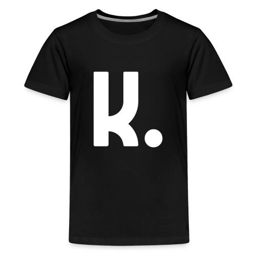 K Dot Period Simple Letter K Design English - Kids' Premium T-Shirt