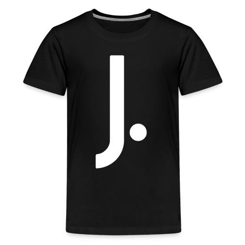 J Dot Period Simple Letter J Design English - Kids' Premium T-Shirt