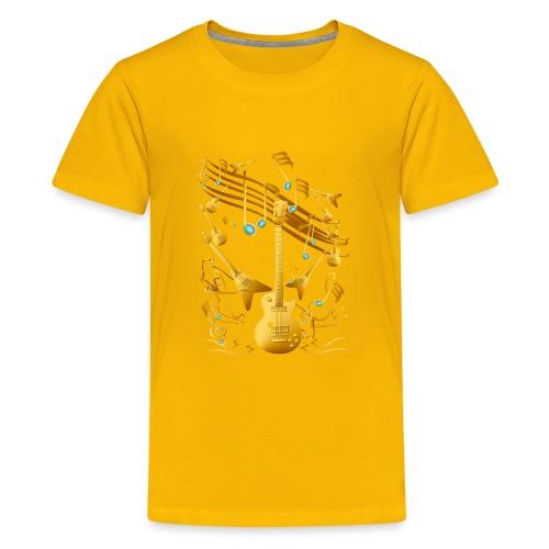 Gold Guitar Party - Kids' Premium T-Shirt