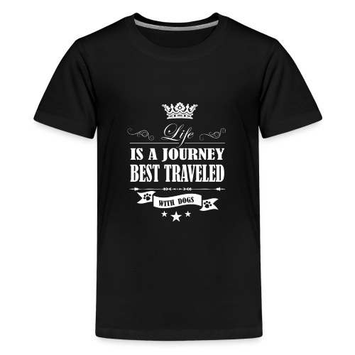 Journey life Best Traveled With Dog - Kids' Premium T-Shirt
