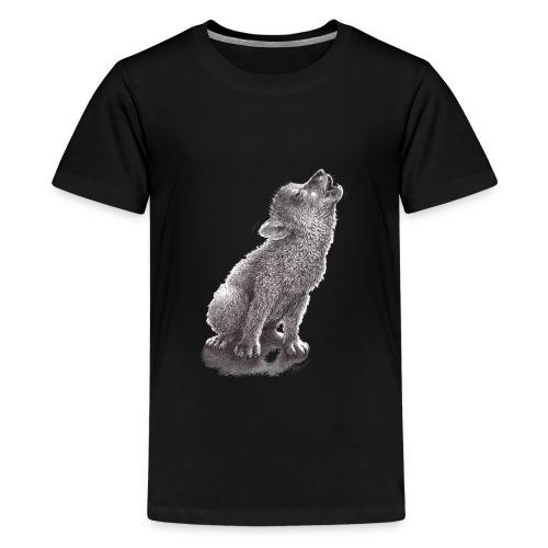 Little Howling Wolf - Kids' Premium T-Shirt