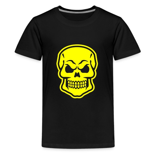 Skull vector yellow - Kids' Premium T-Shirt
