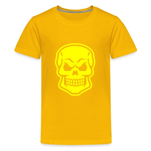 Skull vector yellow - Kids' Premium T-Shirt