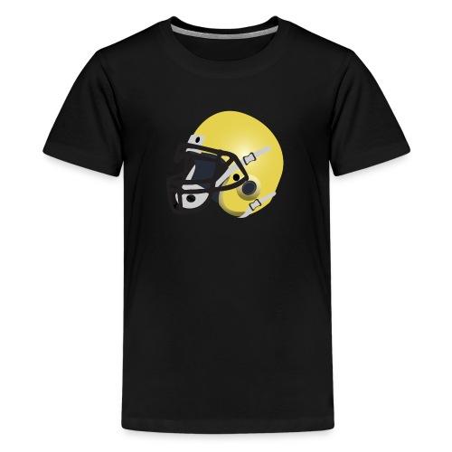 yellow football helmet - Kids' Premium T-Shirt