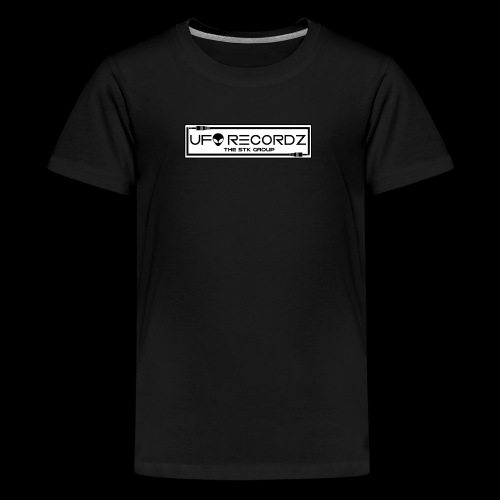 UFO RECORDZ White on Black - Kids' Premium T-Shirt