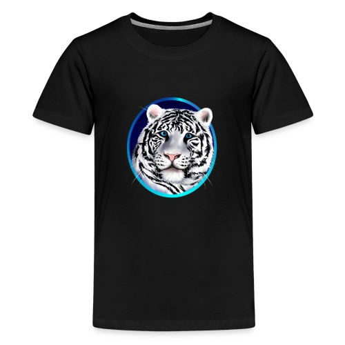 Framed White Tiger Face - Kids' Premium T-Shirt