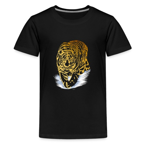 Golden Snow Tiger - Kids' Premium T-Shirt