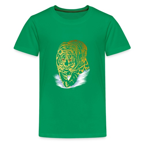 Golden Snow Tiger - Kids' Premium T-Shirt