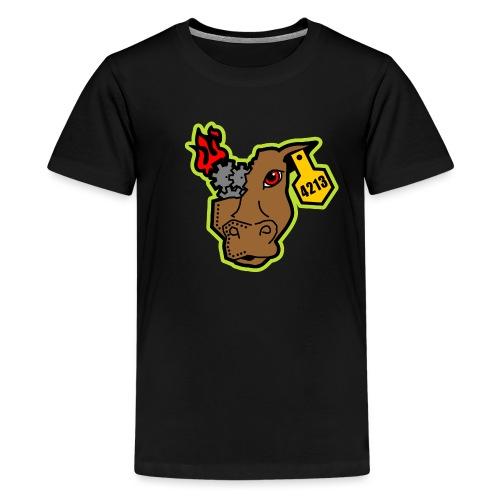 MetalCowRobotics Logo with Green Outline - Kids' Premium T-Shirt