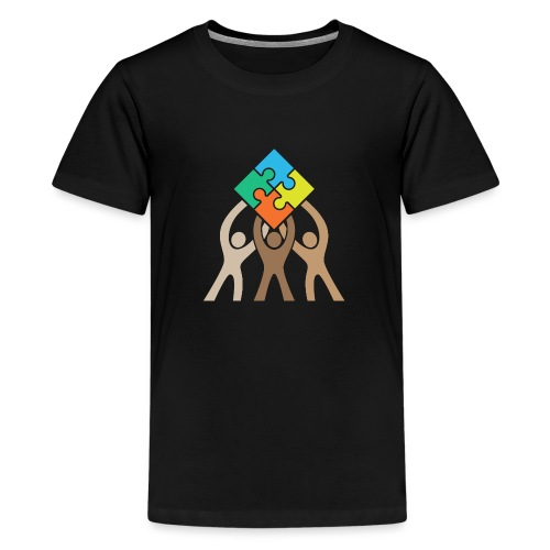 Teamwork and Unity Jigsaw Puzzle Logo - Kids' Premium T-Shirt