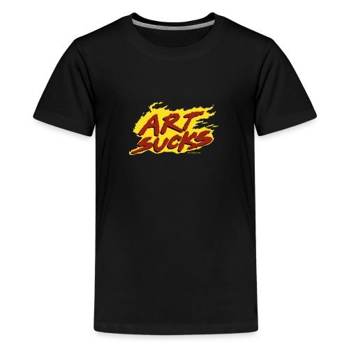 Flaming Art Sucks - Kids' Premium T-Shirt