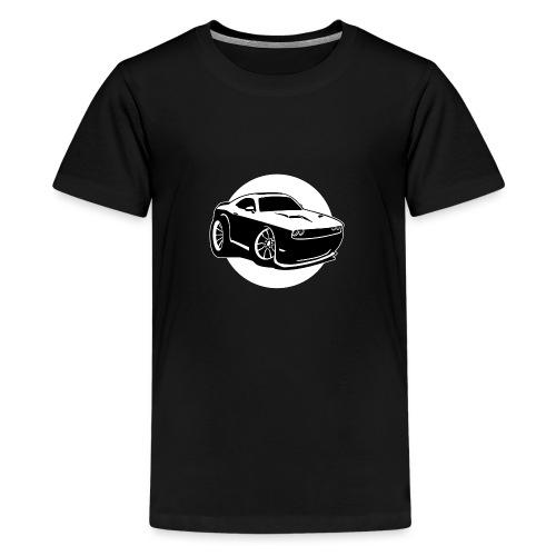 Modern American Muscle Car Cartoon Illustration - Kids' Premium T-Shirt