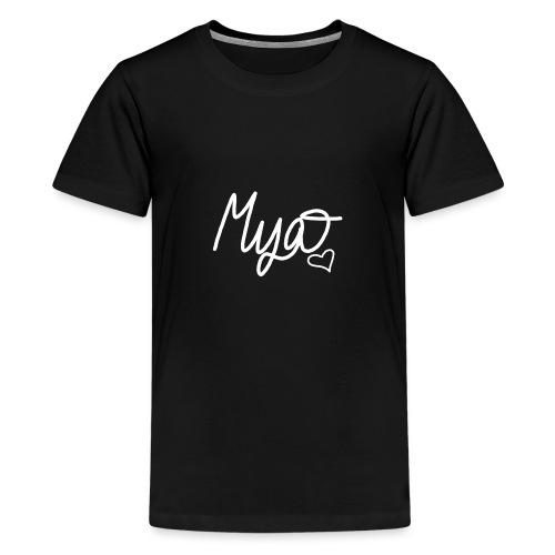 Mya, Signature Hand Drawn (White) - Kids' Premium T-Shirt