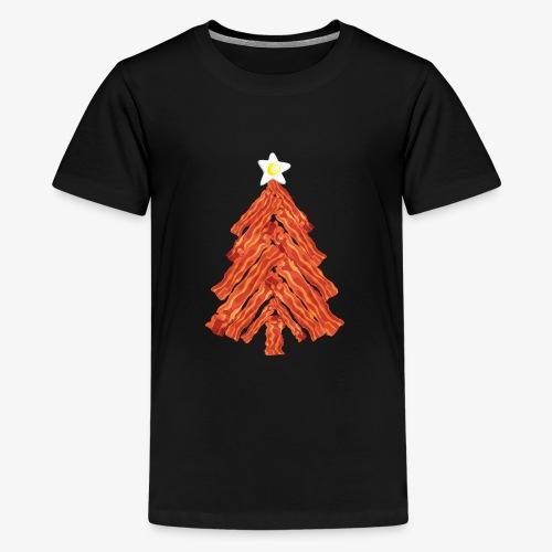 Funny Bacon and Egg Christmas Tree - Kids' Premium T-Shirt