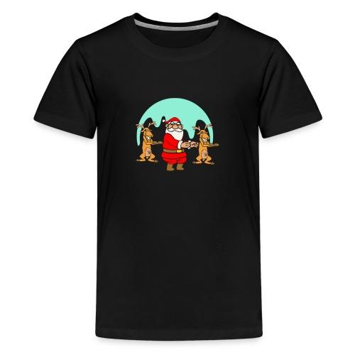 The Dance Of Santa Claus Merry Christmas - Kids' Premium T-Shirt