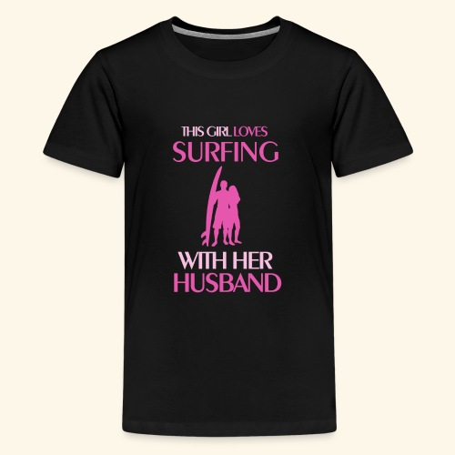 Surf Shirts Womens for Men, Women, Kids, Babies - Kids' Premium T-Shirt