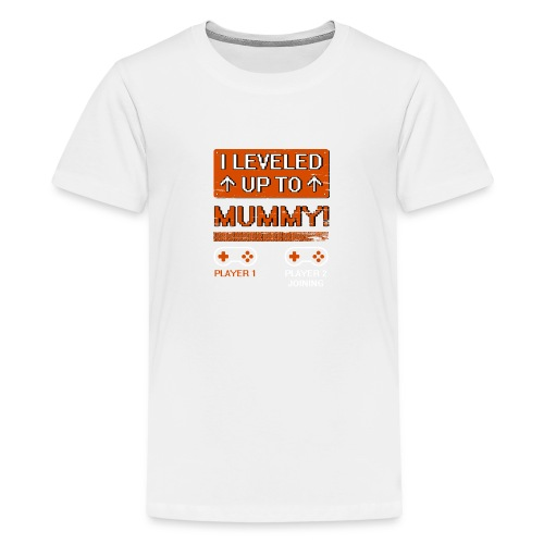I Leveled Up To Mummy - Kids' Premium T-Shirt