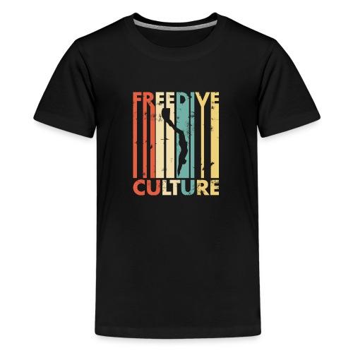 Freedive Culture Vintage Style Silhouette - Kids' Premium T-Shirt